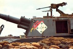 Vietnam Photograph - 155mm M 109 5/16th Field Artillery Central Highlands Vietnam 1968 by California Views Mr Pat Hathaway Archives