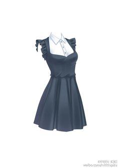 robe noir + chemise en dessou