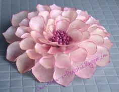 Pink Dahlia from Wafer Paper By DStauch on CakeCentral.com