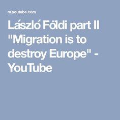 """László Földi part II """"Migration is to destroy Europe"""" - YouTube"""