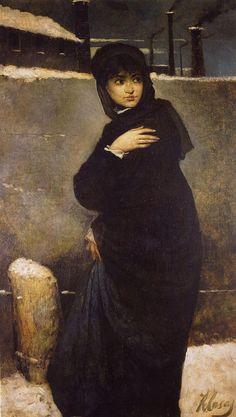 'Retrato de mujer', öl auf leinwand von Ramon Casas I Carbó (1866-1932, Spain)