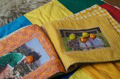 "DIY: Kuscheliges Fotoalbum für Babies _____ waschbar durch Duschvorhang""stoff""! Diy Wings, Baby Kind, Diy Projects To Try, Lunch Box, Throw Pillows, Kids, Milan, Photoshop, Feltro"