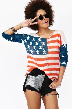 Born In The USA Knit  i need a job.