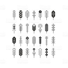 Vector line feathers and arrows royalty-free stock vector art