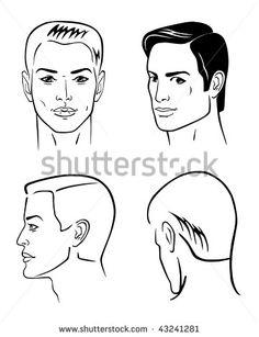 Man Face Profile Stock Vectors & Vector Clip Art   Shutterstock