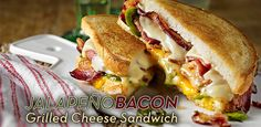 A jalapeno bacon grilled cheese sandwich is the ultimate comfort food. For the bacon fan who also loves spicy foods, this recipe ticks all the boxes.
