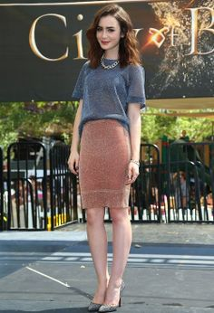 The fashionable Lily Collins