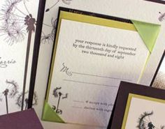 Burlap & Dandelion Rustic Wedding Invitation Suite #PoemeCustom