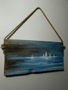 Maritime painting Sylwia Michalska, oil on board, painting Sylwia Michalska - painting . - Maritime painting Sylwia Michalska, oil on board, painting Sylwia Michalska – painting – - Arte Pallet, Pallet Wall Art, Pallet Painting, Tole Painting, Painting On Wood, Driftwood Projects, Driftwood Art, Art Mural Palette, Sailboat Painting