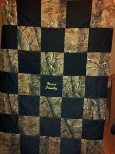 Back Side of Custom Camo Rag Quilt.