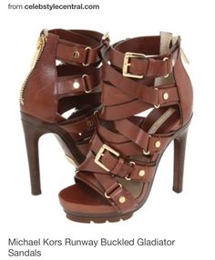4c31bc1e7225 Michael Kors Runway Buckled Gladiator Sandals Michaelkor is on clearance  sale