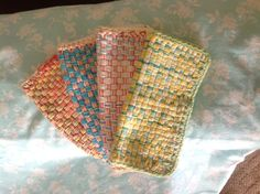 Washcloths made from Martha Stewart loom!