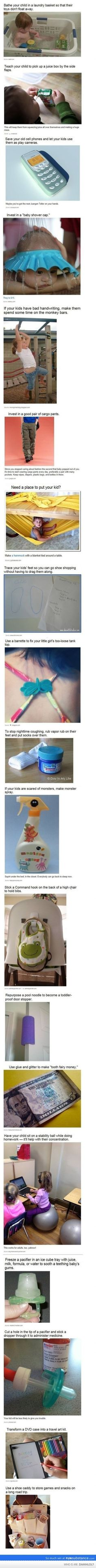 Not that I am even close to be a parent, hahahaha, but I thought that my cousins will benefit from this!!