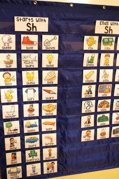 Awesome phonics sorts for pocket charts - SH digraph practice and there are others for all the other sounds too! Teaching Phonics, Kindergarten Literacy, Teaching Reading, Esl Learning, Phonics Reading, Jolly Phonics, Guided Reading, Teaching Tools, Literacy Stations