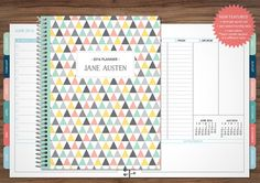 12 MONTH PLANNER WITH MONTHLY TABS - CHOOSE YOUR START MONTH  ****Also available without monthly tabs here: