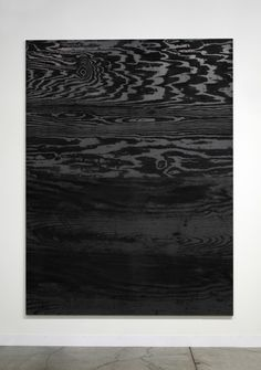 Adam McEwen - Untitled (2013) - Graphite on aluminum panel