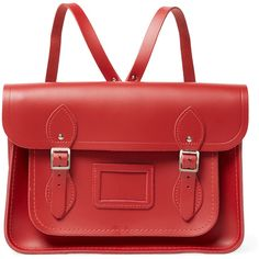 The Cambridge Satchel Company The Cambridge Satchel Company Women's... ($139) ❤ liked on Polyvore featuring bags, backpacks, red, handbag satchel, leather flap backpack, leather satchel, red backpack and satchel backpack