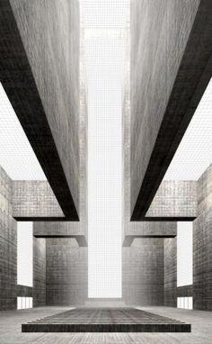 Simon Ungers  Kathedraal uit de serie Zeven sacrale ruimten - 2003