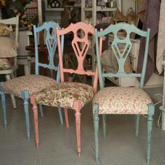 Set di 6 #sedie #shabby #chic