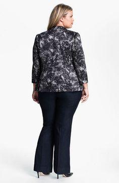 Bellatrix Plus SIze Lace Print Blazer