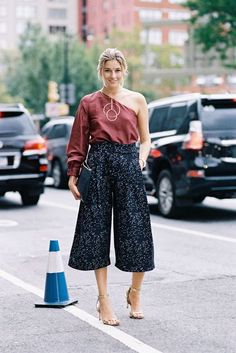 two trends in one: bare shoulder and cute culottes | SpicySTYLE ...
