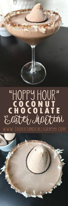 The Easter eggs have been hunted for and collected. Friends and family have successfully honored the Easter holiday over a good meal and conversation. Easter Drink, Easter Cocktails, Holiday Drinks, Easter Brunch, Spring Cocktails, Easter Chocolate, Coconut Chocolate, Chocolate Dipped, Coconut Rum