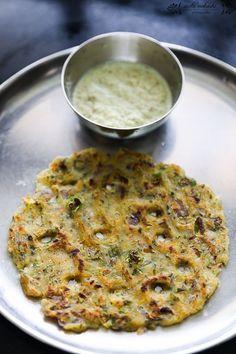 Savory Rice Pancake/ Rice Thalipeeth - Gluten Free, Vegan