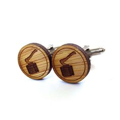 Lumberjack Axe Cufflinks - Bamboo - Wood Cufflinks - Gifts Under 25 - Wedding - Groom - Groomsmen - Rustic Wedding - Modern Wedding. $20.00, via Etsy.