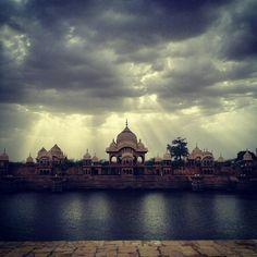 Kusum Sarovar, Govardhan, Vrindavan Mathura, U.P., India, Earth, In this material universe a window to the Spiritual Goloka Dhaam. Jai Shrila Prabhupada.....This is your mercy