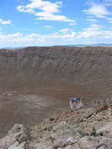 Talk about a hole in the ground....wow! Meteor Crater near Flagstaff, AZ.