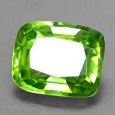 3.68 Cts Natural Unique AAA+ Top Green Peridot Loose Gemstone Cushion Cut Burma #Unbranded
