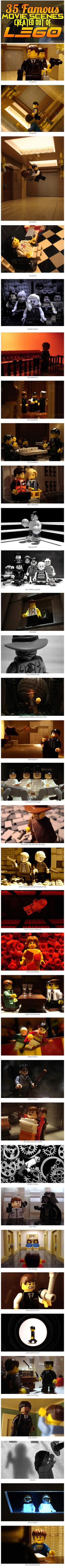Movies recreated in LEGO…