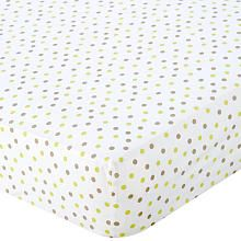 Babies R Us Percale Crib Sheet - Green/Mocha Dot, $12.99