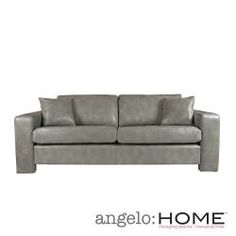 @Overstock - Beautify your living room with this vintage dove-gray leather sofa from Angelo. This sofa crafted from sturdy hardwood finished in dark walnut is upholstered in durable Renu leather, creating an elegant look that accentuates your modern decor.http://www.overstock.com/Home-Garden/angelo-HOME-Angelo-Vintage-Dove-Grey-Renu-Leather-Sofa/6541280/product.html?CID=214117 $690.99