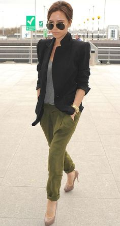 Victoria Beckham leaving Heathrow airport, March 2010