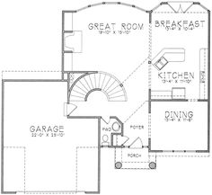 Main Floor. Perfect main floor. Close dining room off to make office/play room. Rectangular island in kitchen and possible pantry in corner of kitchen.