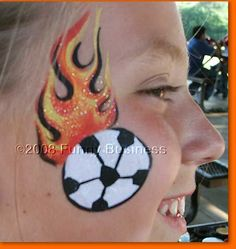 Image result for soccer face painting designs