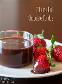 """""""2 Ingredient Chocolate Fondue"""" 