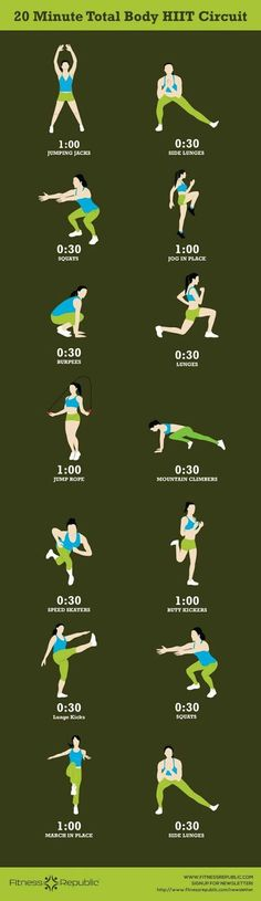 20 minute total body workout