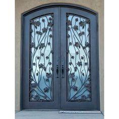 Modern Iron Doors Design Incredible Wrought Iron Entry Doors ... Window Design, Door Design, House Design, Iron Front Door, Iron Doors, Steel Doors And Windows, Entry Doors, Glass Door