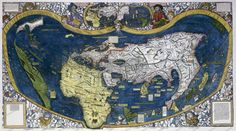 Waldseemüller's World Map (1507) - Antique Maps and Globes