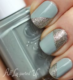 Essie Maximillian Strasse Her manicure with Beyond Cozy accents