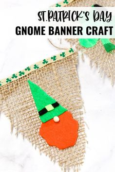 This St. Patty's Gnome Banner is absolutely adorable! If you are a little gnome fan then you know you NEED to make this - I mean what's better than a cute banner full of gnomes to really set the stage for St. Patrick's Day! St Patrick's Day Crafts, Crafts To Make, Fun Crafts, Rainbow Paper, Rainbow Art, Christmas Party Decorations, Christmas Fun, Triangle Template, Felt Squares