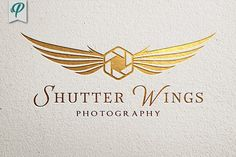 Shutter Wings - Photography Logo by PenPal on @creativemarket