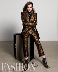 Wild for fashion! The brunette beauty looked exquisite for her spread in numerous color, a...