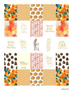 Free October Planner Stickers 2015 | Lily Beaches
