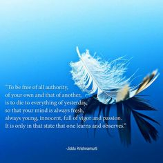 To be free of all authority.