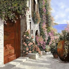 Wall Art - Painting - four seasons- spring in Tuscany by Guido Borelli Italian Painters, Italian Artist, Art Mural, Wall Art, Spring Art, Toscana, Art Pages, Four Seasons, Art For Sale