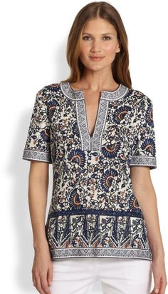 eb5a17856015 Love this  Brinda Tunic  Lyst Tory Burch