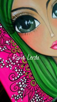 Romi Lerda Artwork Pop Art, Hippie Art, Colorful Paintings, Art Journal Pages, Portrait Art, Face Art, Indian Art, Illustrations, Art Pictures